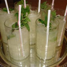 """Alcohol-Free Mint Julep I """"These were such a fun and yummy alternative to be able to serve kids during the Kentucky Derby."""""""