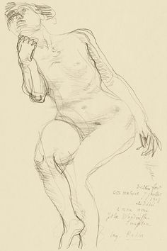 Seated Female Nude Leaning to the Left (1908) by Auguste Rodin. Original from The National Gallery of Art. Digitally enhanced by rawpixel. | free image by rawpixel.com / National Gallery of Art (Source) Vintage Wall Art, Vintage Walls, Rodin Drawing, Auguste Rodin, National Gallery Of Art, Classic Image, Classical Art, Poster Prints, Art Prints