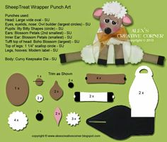 Alex's Creative Corner: Sheep Easter Favour