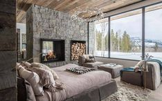 Pearson Design Group designed this spectacular mountain modern home located in Wilson, a quaint village at the bottom of Teton Pass, Wyoming. Mountain Modern, Mountain Range, Interior Architecture, Interior Design, Sustainable Architecture, Open Concept Floor Plans, Floor To Ceiling Windows, Modern House Design, Cabin Design