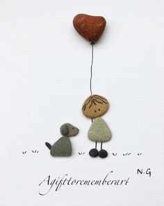 Cute valentine Süße Valentinstag The post Cute valentine appeared first on Cadeau ideeën. Stone Crafts, Rock Crafts, Diy And Crafts, Diy Cadeau Noel, Art Pierre, Pebble Pictures, Stone Pictures, Cute Frames, Sea Glass Art