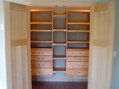 John Louis Home honey maple closet installation