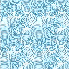 Waves Clipart and Stock Illustrations. Waves vector EPS illustrations and drawings available to search from thousands of royalty free clip art graphic designers. Japanese Patterns, Japanese Design, Japanese Art, Japanese Colors, Traditional Japanese, Wave Pattern, Pattern Art, Pattern Design, Pattern Drawing
