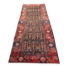Image of Vintage Persian Zanjan Runner 3′5″ × 9′3″