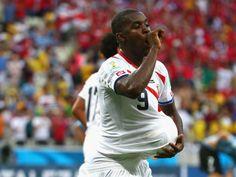 Costa Rica vs Uruguay Joel celebrating