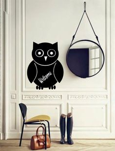 chalkboard owl decal