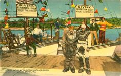 St. Nicholas Exhibition Boats and Divers Tarpon Springs [1949]