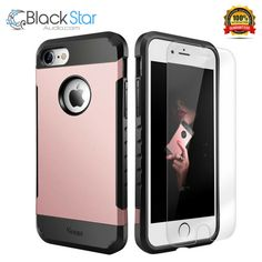 iPhone 7 Case with Free Screen Protector Dual Layer Drop Protection Cover Shoc Iphone 7 Cases, Screen Protector, Cover, Ebay