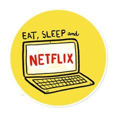 Adesivo eat, sleep and netflix de vitor martinsna Meme Stickers, Tumblr Stickers, Phone Stickers, Cool Stickers, Printable Stickers, Planner Stickers, Netflix, Tumblr Png, Aesthetic Stickers
