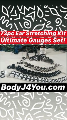 BodyJ4You 20PC Plugs Single Flare Acrylic Ear Gauges 12G-20mm Expander Stretching O-Ring Piercing Set
