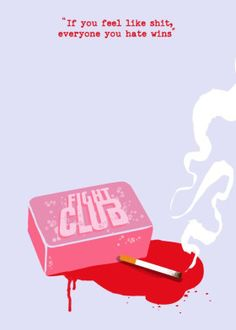 Fight Club by GoldenPlanet Prints Fight Club Tattoo, Minimal Movie Posters, Film Posters, Fight Club Soap, Fight Club Quotes, Club Poster, Movie Lines, Book Projects, Minimalist Poster