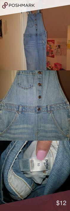 NWOT girls Oshkosh overalls Never worn. Size 10. Long overalls. Light wash OshKosh B'gosh Other