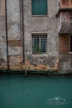 Travel Photography. Window on Venice canals. Edited in LR