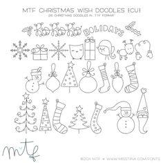 MTF Christmas Wish Doodles | MissTiina.com {Fonts} :: Illustration & Design, Digital Scrapbooking, Free Fonts, Tutorials and more!