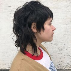 Short Grunge Hair, Edgy Short Hair, Mullet Haircut, Mullet Hairstyle, Hair Inspo, Hair Inspiration, Medium Hair Styles, Curly Hair Styles, Alternative Hair