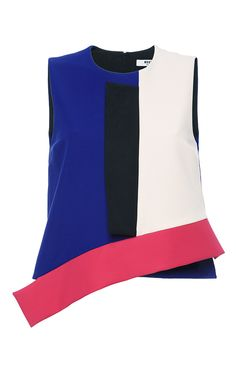 Technical Jersey Color-Block Top - MSGM Resort 2016 - Preorder now on Moda Operandi