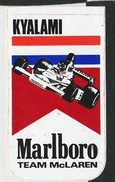 ORIGINAL MARLBORO TEAM McLAREN KYALAMI GP 1976 JAMES HUNT F1 PERIOD RACE STICKER