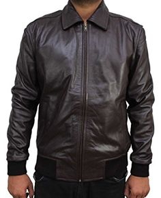 Happy Days Fonzie Real Leather Jacket at Amazon Men's Clothing store:
