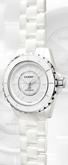 White chanel watch... Wish I had the money! #beautifulwatch