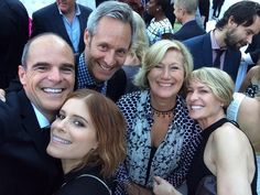 House of Cards - Emmy Party 2014. From left: MIchael Kelly (Doug Stamper), Michael Gill (Pres. Walker), Jayne Atkinson (SoS Durant), Robin Wright (Claire Underwood) and Kate Mara (Zoe Barnes).