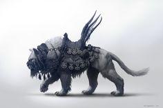 Khitan Tiger Mount, Per Haagensen on ArtStation at https://www.artstation.com/artwork/dQXaW