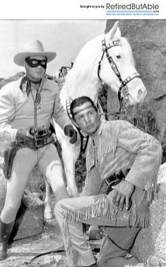 "The Lone Ranger & Tonto - Hi Ho Silver! My favorite western to listen to on the radio, and then on TV in the I was in love with the Lone Ranger and thought Tonto was really cool. He said, ""Sometimes white man, not so smart as horse. Photo Vintage, Vintage Tv, Vintage Hair, Vintage Hollywood, Classic Hollywood, Vintage Posters, Vintage Fashion, Tv Westerns, The Lone Ranger"