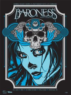 Rock and Roll Band Poster typography | Poster Art: 4 Baroness