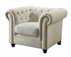 Coaster Roy Chair In Oatmeal 504556