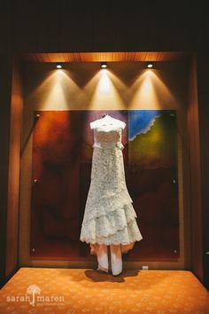 Crocker Art Museum Wedding Photos -Brides Dress - Sarah Maren Photographers