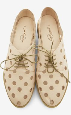 Nude Loafer // with sweet polka dot cut outs!