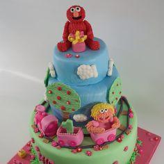Birthday cake elmo