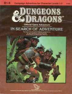 Role Playing Games - Dungeons & Dragons In Search of Adventure