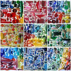 Kunstwerk met kleurrijk afval! Versier een muur in je lokaal met (proper) afval!