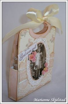 Lovely carrier/box/card for a mini scrapbook!