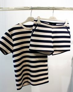 // monochrome outfit, co ords, crop top, shorts, stripe, black and white, outfit, fashion, style
