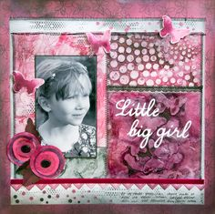 LO with mixed media background. Mixed media panels created at ArtFusion, on a workshop instructed by Birgit Koopsen.By Elina Stromberg #scrapbooking #MixedMedia