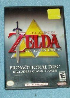 Legend Of Zelda Collector's Edition Nintendo Gamecube Promotional Disc 4 Games