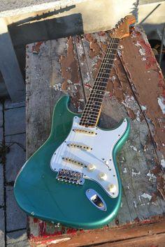 Fender Stratocaster, Guitar Fender, Guitar Art, Cool Guitar, Acoustic Guitar, Blue Electric Guitar, Fender Electric Guitar, Cool Electric Guitars, Daft Punk
