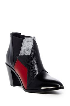 Image of Diesel Mannis Star Leather Ankle Boot