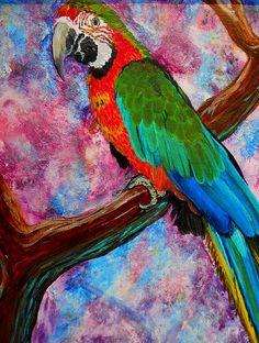 Tropical Parrot ~ Liz Borkhuis
