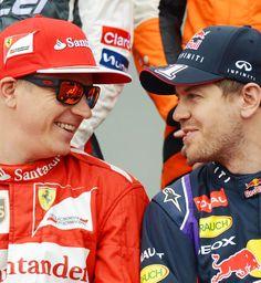 Kimi Raikkonen & Sebastian Vettel。目害