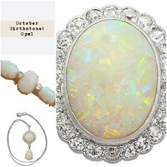 For all those October babies out there! Opal is the gemstone you should definitely be wearing this Fall #Autumn #Fall #October #Opal #ring #brooch #necklace #jewellery #jewelry #fashion