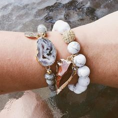 #Repost @phillyfashiongirl  I'm so in love with these bracelets from @kinsleyarmelle ! I'm obsessed with crystals http://ift.tt/1meMGGI  #kinsleyarmelle #armcandy #crystals #rocks #phillyblogger