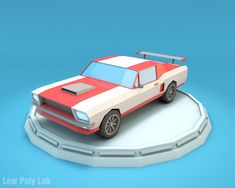 Low Poly Mustang Car by BigBallsStudio Low Poly Racing Car Accurate forms of polygonal shapes, give this model more simplicity and elegance. Low poly Mustang was origi 3ds Max, Low Poly Car, Low Poly Games, Car 3d Model, Low Poly 3d Models, Modelos 3d, Buggy, Mustang Cars, Cartoon Styles