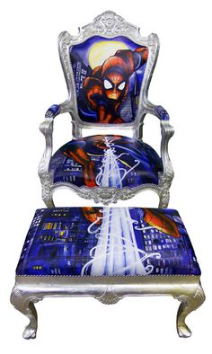 Spiderman by Jimmie Martin. . . Perfect for a little boys room!! Add some baroque to a boys room.