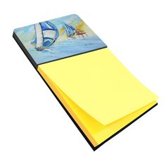 Sailboats and Middle Bay Lighthouse Sticky Note Holder JMK1005SN