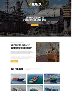Zidex - Industrial & Factory WordPress Theme - ModelTheme Wordpress Theme, Engineering, Industrial, Construction, Ship, Projects, Building, Log Projects, Blue Prints