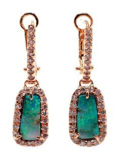 KIMBERLY MCDONALD Boulder Opal and Diamond Earrings by farfetch