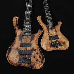 Gerald Marleauxさん(@marleaux_bassguitars)のInstagramアカウント: 「A nice pair of basses - Consat Signature and Soprano with burl tops #marleaux #marleauxbassguitars…」