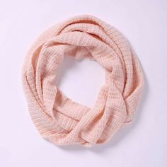"""SOLD! West Elm Waffle Stitch Infinity Scarf West Elm exclusive, this scarf is soft, girly, and light! Loop it once for a casual look or wrap it around a second time to stay extra cozy. Approx. 72"""".  • Warm, ballet pink. • 50% acrylic, 25% wool, 25% nylon. West Elm Accessories Scarves & Wraps"""